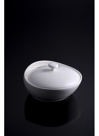 Acar Beyaz Porselen Güveç Tencere 20Cm Renkli